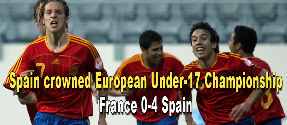 ' Spain became the first team to retain the UEFA European Under-17 Championship and gave a scintillating display worthy of coach Juan Santisteban to defeat France in the final. '