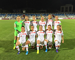 Womens A National Team lost against Kosovo: 2-0