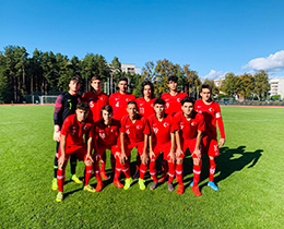 U17s lost against Ukraine: 2-0