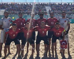 Turkey finished the first stage of the Euro Beach Soccer League 2018