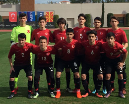 U14s drew against Macedonia: 1-1