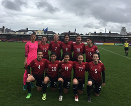 Womens U19 beat Republic of Ireland:   2-0